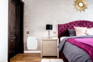electric panel heater in the bedroom