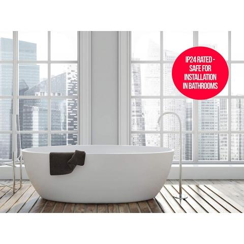 MYLEK LED Bathroom Safe Electric Panel Heater with Timer ...