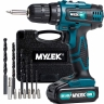 Mylek 18V Cordless 2 Speed LI-ion Drill with LED Work Light + 1 Hour Fast Charge